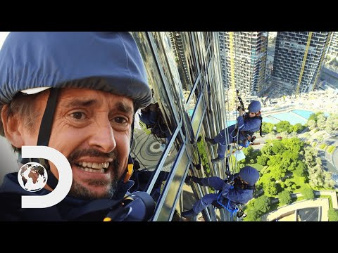 Richard Faces His Fear Of Heights To Clean The 828 Metre Tall Burj Khalifa | Richard Hammond's Big
