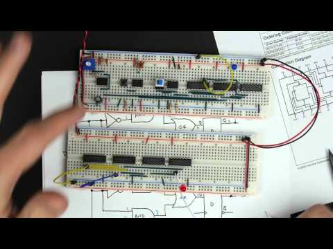 Designing and building a 1-bit register - 8 bit register - Part 3