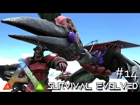 MODDED ARK: Survival Evolved - ARMORED QUETZAL EPIC GRAPPLING HOOK TAME !!! E14 (Gameplay)