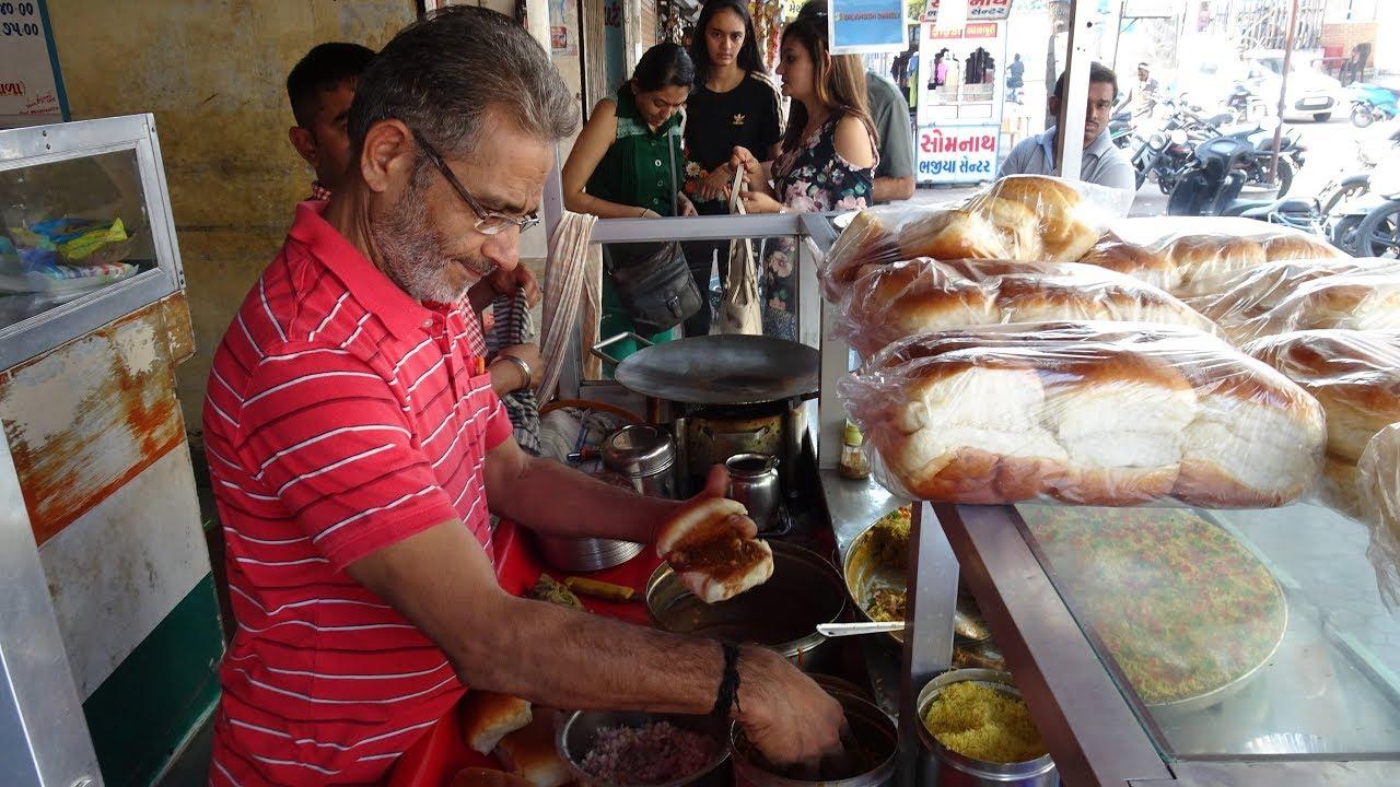 "Download Indian Street Food: Cheese, Butter Kutchi Dabeli at ""Dilkhush Dabeli"" at Khaudar Galli Bardoli India"