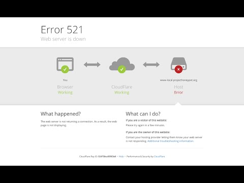 Google Chrome - Error 521: Web server is down - Fixed/Solved