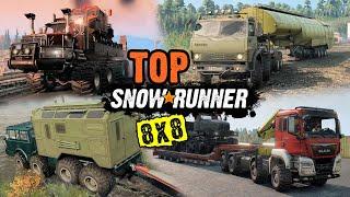 Best 8x8 trucks (MODS) - SnowRunner Top Mods   MAN, TATRA, KAMAZ, KRAZ