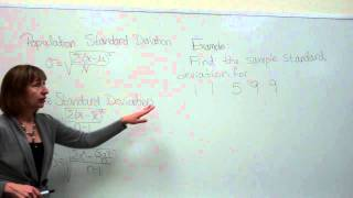 Find the sample standard deviation of a data set