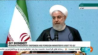 Iran: President Hassan Rouhani defends his foreign minister's visit to G7 Summit