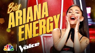 Download Ariana Grande Brings the ENERGY! | The Voice 2021