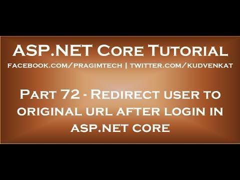 Redirect user to original url after login in asp net core