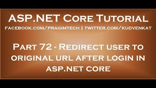 Redirect user to original url after login in asp net core