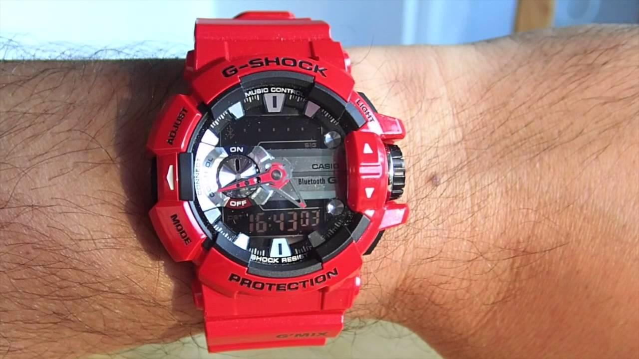 8883a9c6473 Casio G-Shock Bluetooth GBA-400 G MIX Phone Finder - YouTube