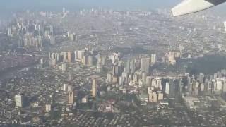 Take off at NAIA International Airport    incredible Manila panorama   