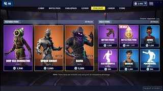 Spider Knight & Raven Skins (Back) ! Fortnite Item Shop February 23, 2019