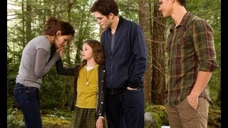 Renesmee in Breaking Dawn Part 2 with Rob and Kristen - First Photos!