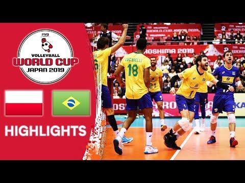 POLAND Vs. BRAZIL - Highlights | Men's Volleyball World Cup 2019