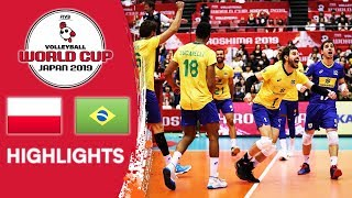 POLAND vs. BRAZIL - Highlights | Men's Volleyball World Cup 2019