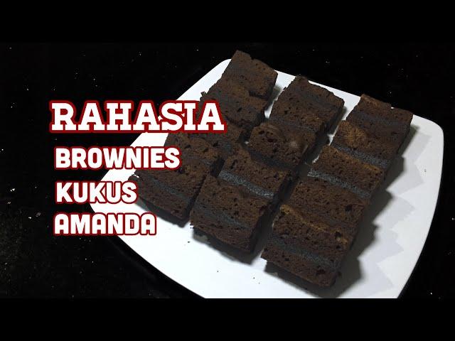 RESEP BROWNIES KUKUS AMANDA - resep asli brownies amanda bocor