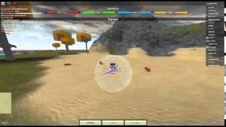 Spinosaurus Vrs. T-rex In Roblox: Dino Simulator