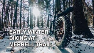 Early Winter Biking at Merrell Trail | Mountain Biking in Grand Rapids