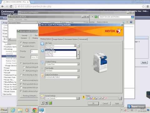 Xerox passcode or PIN print, Secure Print - YouTube