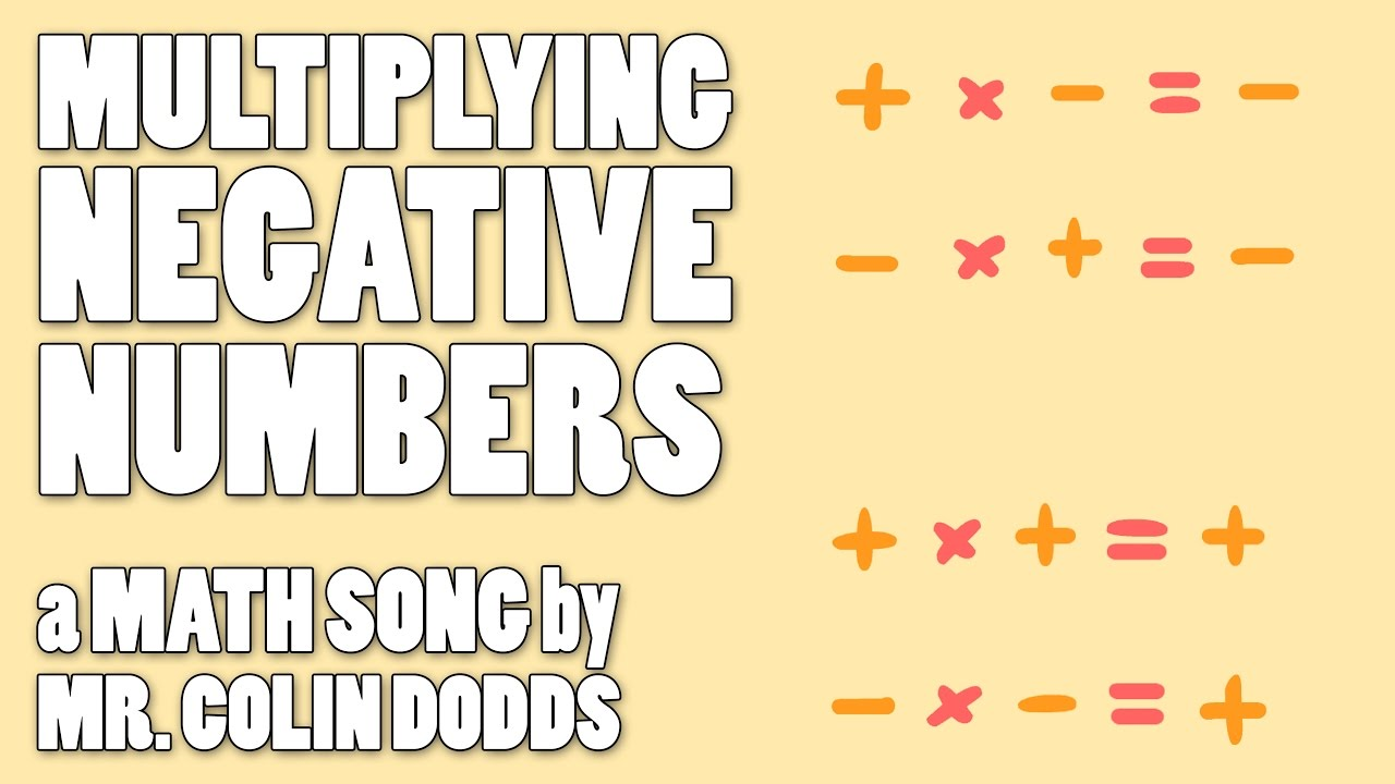 Colin Dodds - Multiplying Negative Numbers (Math Song ...