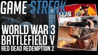 PREMIERA WORLD WAR 3, DŹWIĘKI W BATTLEFIELD V, ATARI RETRO, RED DEAD REDEMPTION 2 – GAME STREAK #2