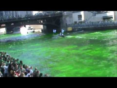 Dyeing of Chicago River - Saint Patrick