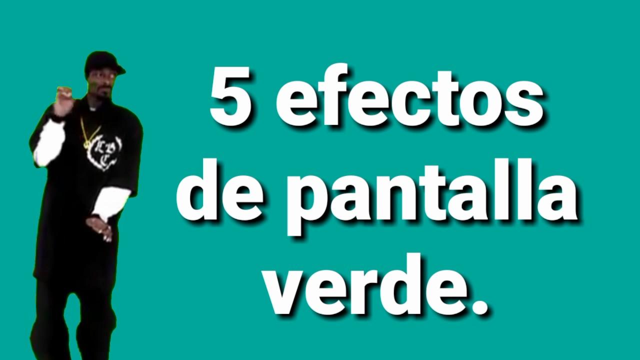 5 EFECTOS PARA PANTALLA VERDE/CHROMA KEY.