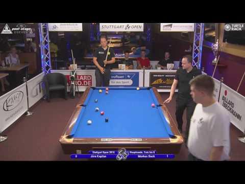 Stuttgart Open 2016, No. 21, 1/16 Final, Jörn Kaplan vs. Markus Buck, 10-Ball, Pool-Billard