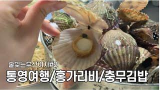 부산생활브이로그/통영여행/가족여행/홍가리비/충무김밥