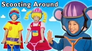 Scooting Around + More | Fun Day Out | Mother Goose Club Phonics Songs