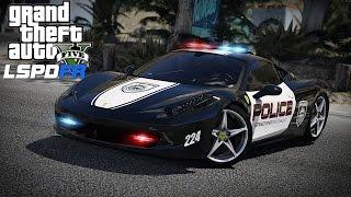GTA 5 MOD ITA - FERRARI 458 ITALIA DELLA POLIZIA LSPDFR - GTA 5 GAMEPLAY ITA