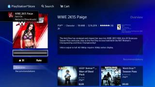 How to download PAIGE on WWE 2K15 PS4