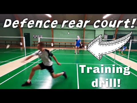 DEFENCE REAR CORNERS – BADMINTON EXERCISE #88 , tutorial