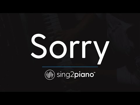 Sorry (Piano Karaoke Instrumental) Halsey