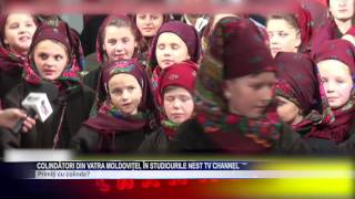 Colindatori din Vatra Moldovitei, in studiourile NEst TV Channel