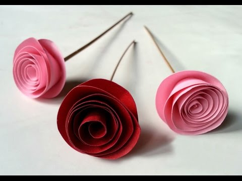DIY Easy Rolled Paper Roses for Mothers Day EASY DIY