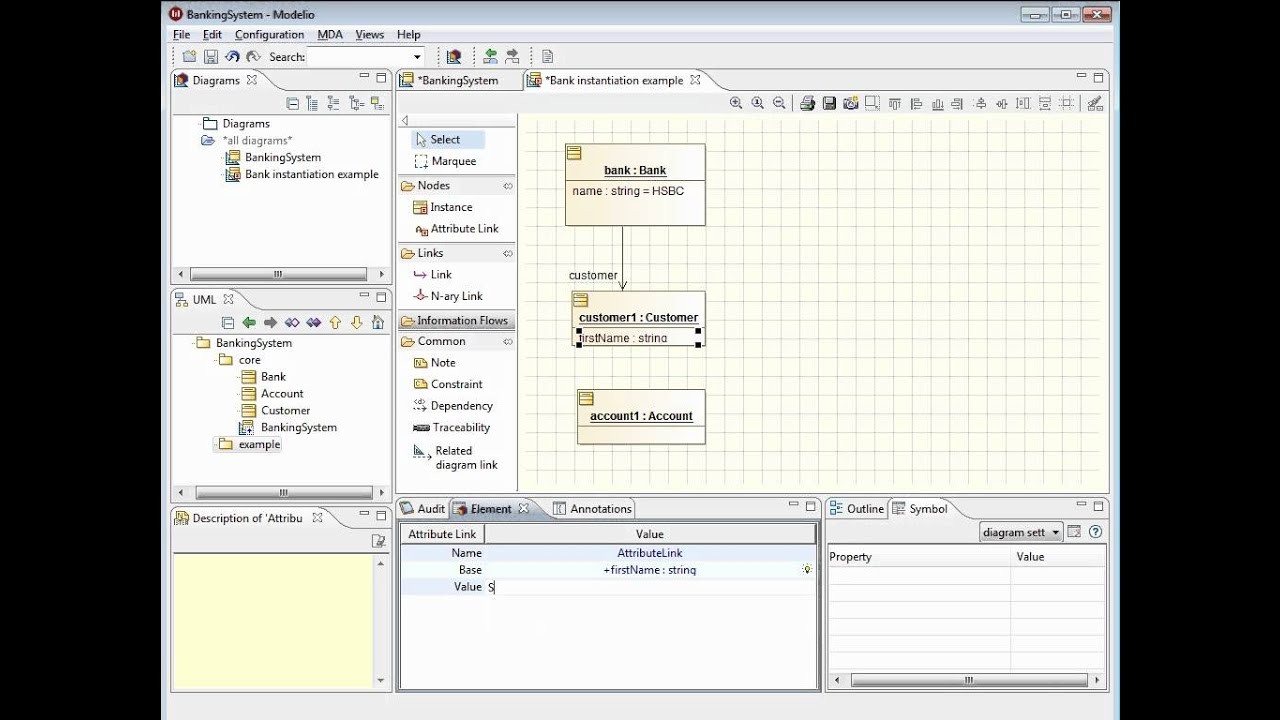 Modelio create object diagrams and instances youtube modelio create object diagrams and instances ccuart Choice Image