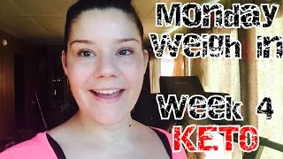 Monday weigh in | KETO | Week 4 | Weight Loss