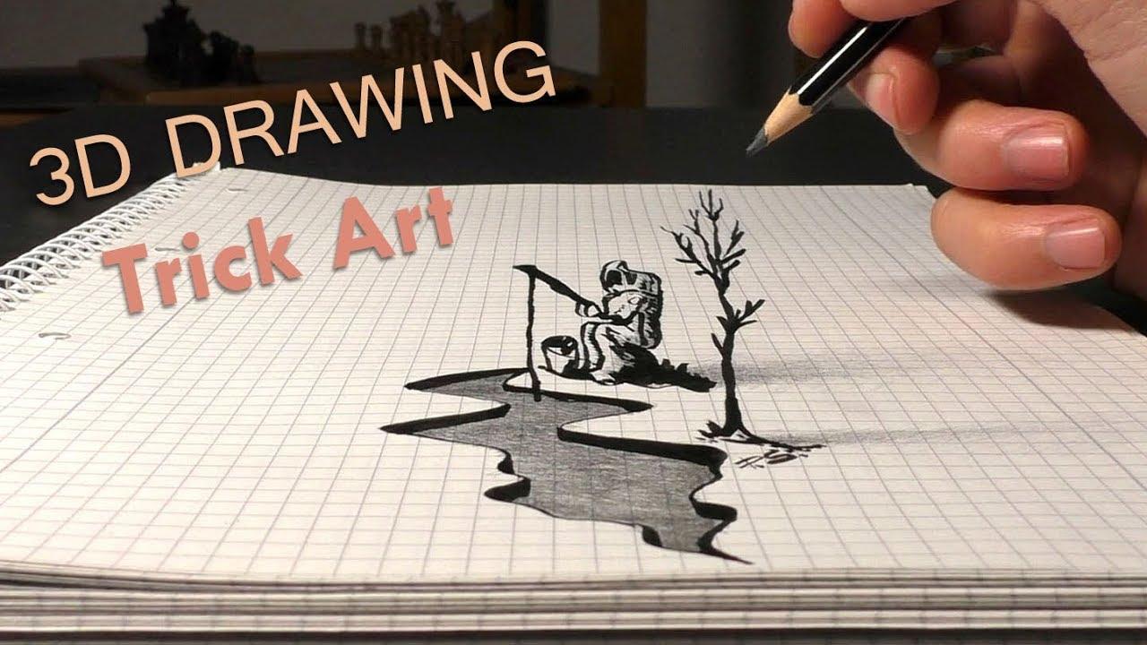 Astrofischer 3d Zeichnung Zum Nachmachen Lernvideo Für Anfänger