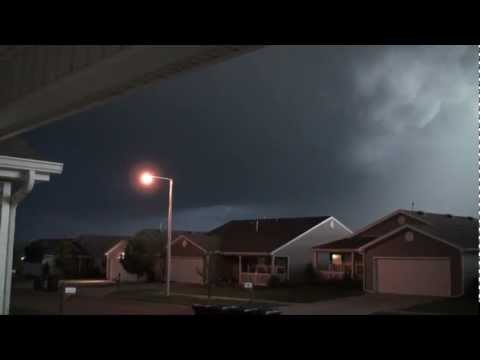 Oklahoma Tornado Warning with Severe Hail and Strong Wind Gusts, May 29th, 2012