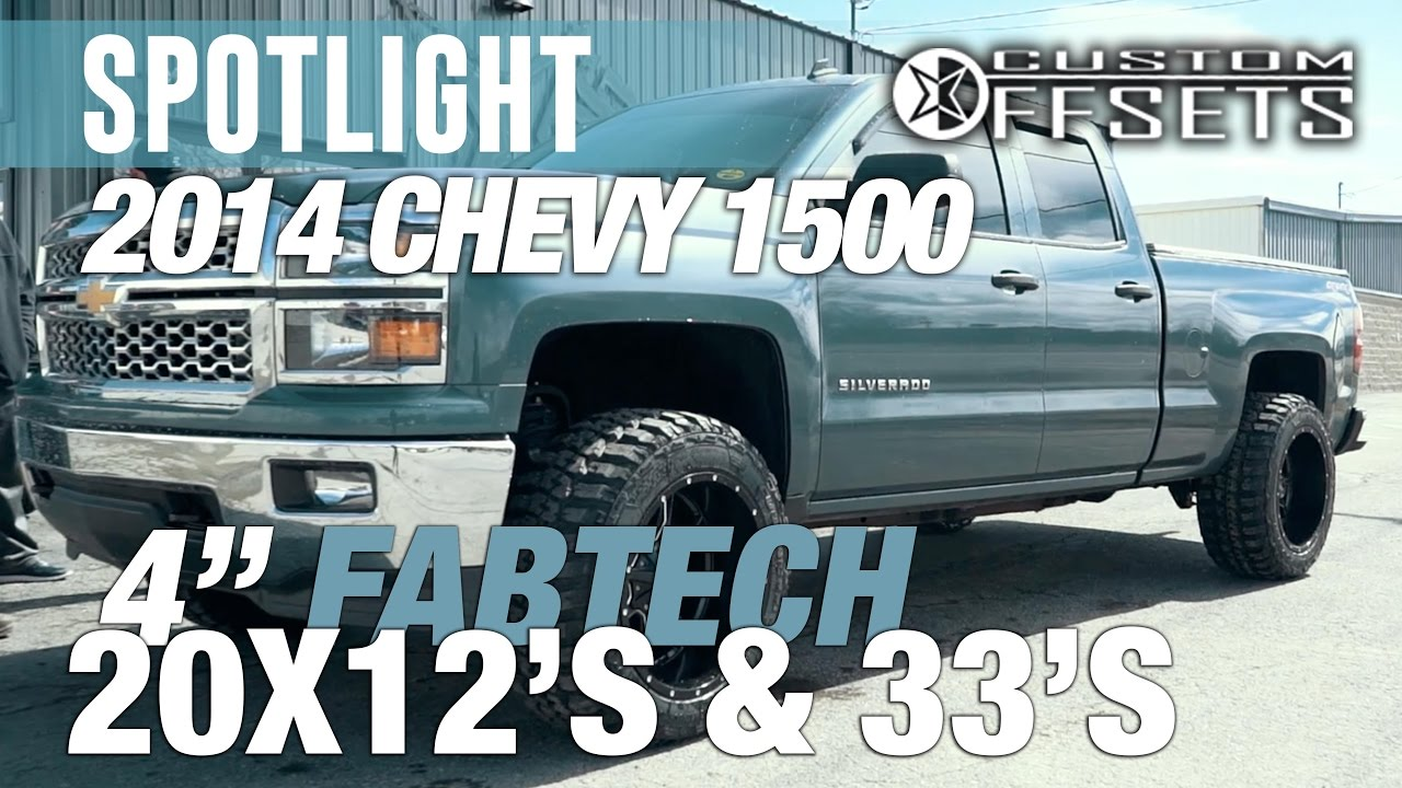 "6 Inch Lift Kit For Chevy Silverado 1500 >> Spotlight - 2014 Chevy 1500, 4"" Fabtech Lift, 20x12's, 33s ..."
