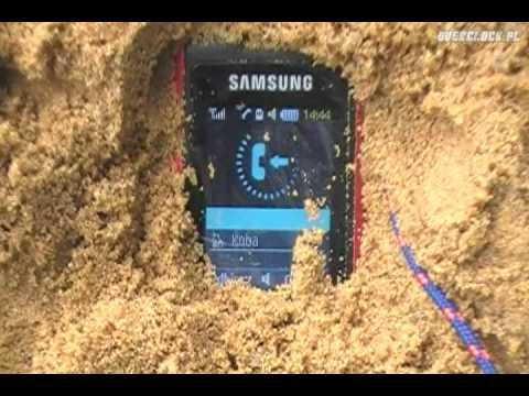 Samsung B2100 Explorer - Test nr 4 - Odporność na piach i kurz
