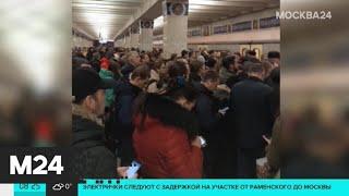 На оранжевой ветке метро произошел сбой - Москва 24
