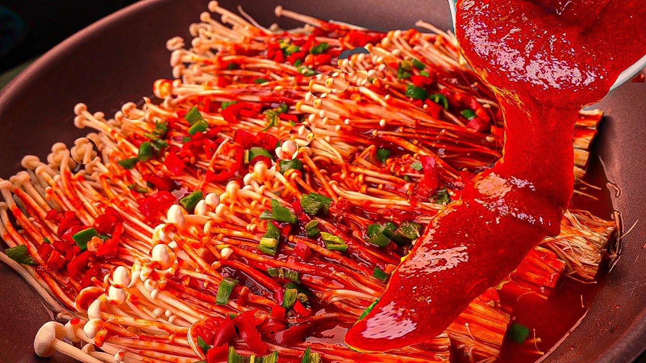 [Chos Cooking] Delicious spicy enoki mushroom dish