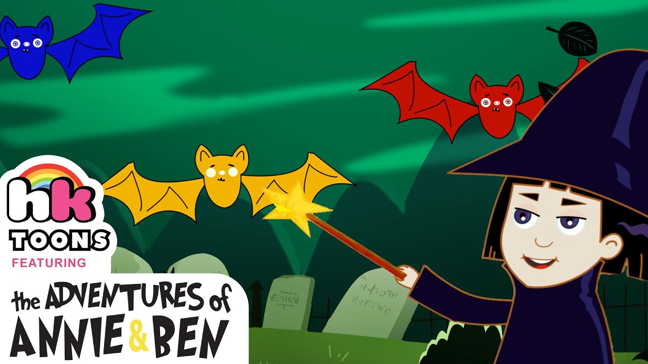 Three Little Spooky Bats | Halloween Songs for Kids | Hooplakidz Toons