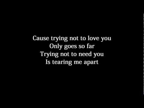 Nickelback - Trying Not To Love You Lyrics text słowa tekst