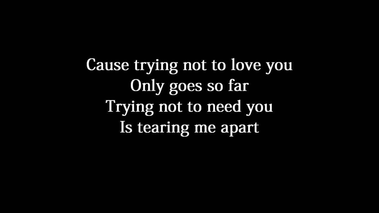 Download Nickelback - Trying Not To Love You Lyrics text słowa tekst