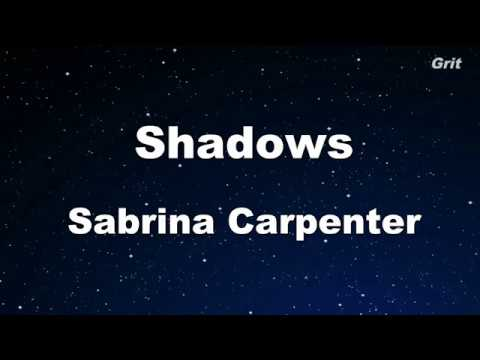 Sabrina Carpenter - Shadows  Karaoke 【No Guide Melody】 Instrumental