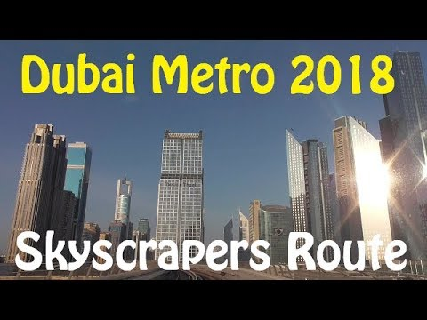 Dubai Metro 2018 - Ride from Jumeirah Lake Towers to Al Jafiliya
