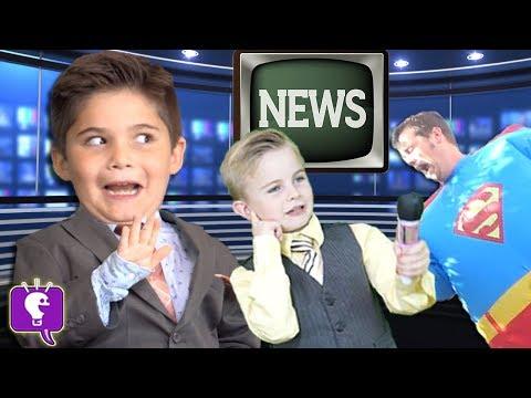 HobbyKids Breaking NEWS! Adventure + Real Superheroes Surprise Toys. Batman Superman HobbyKidsTV