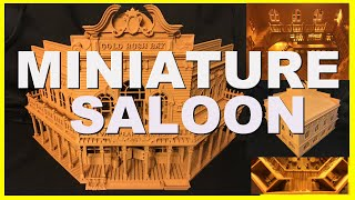 Old West Saloon/Hotel Wood-Based HO Scale Miniature for model train layouts Assembled Built-Ready