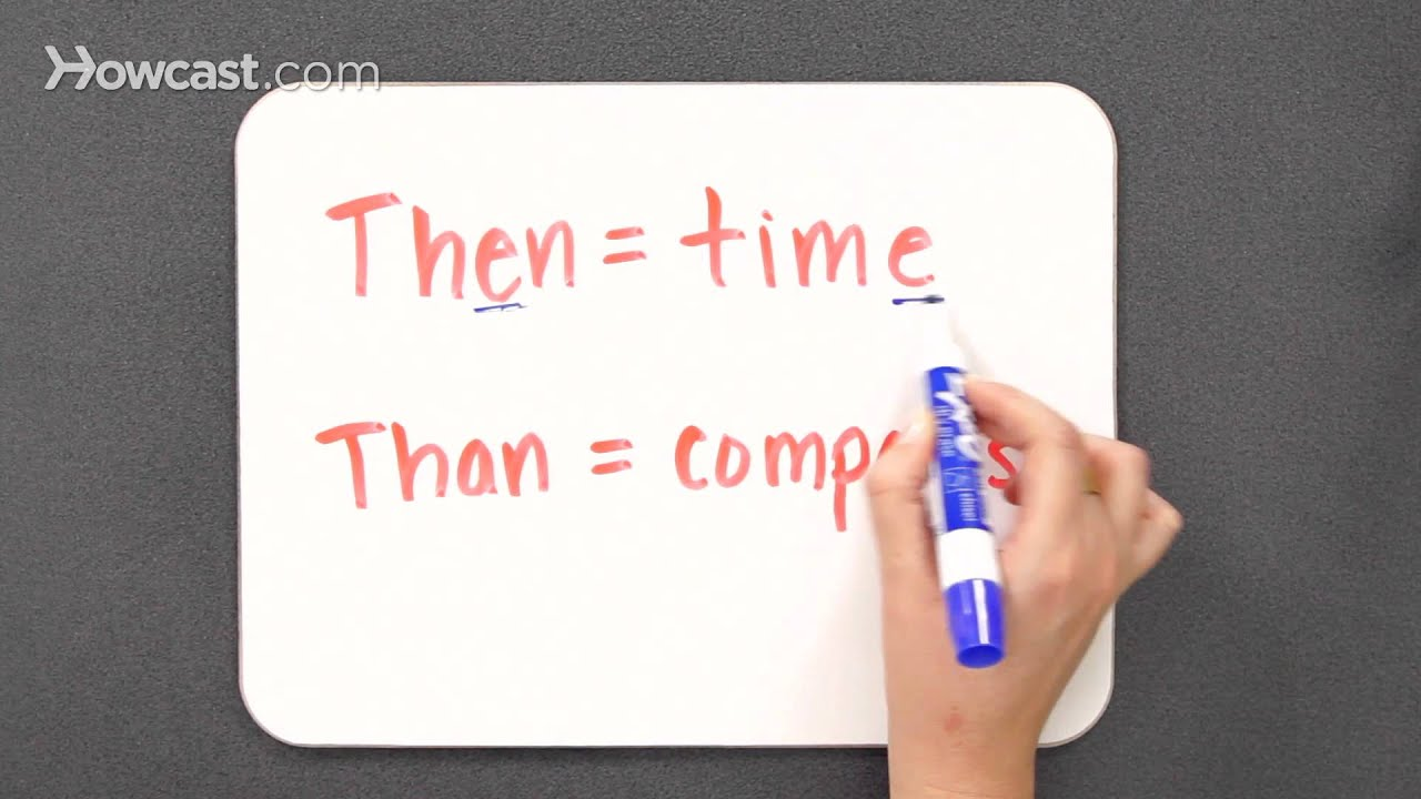 worksheet Than Or Then when to use then vs than grammar lessons youtube